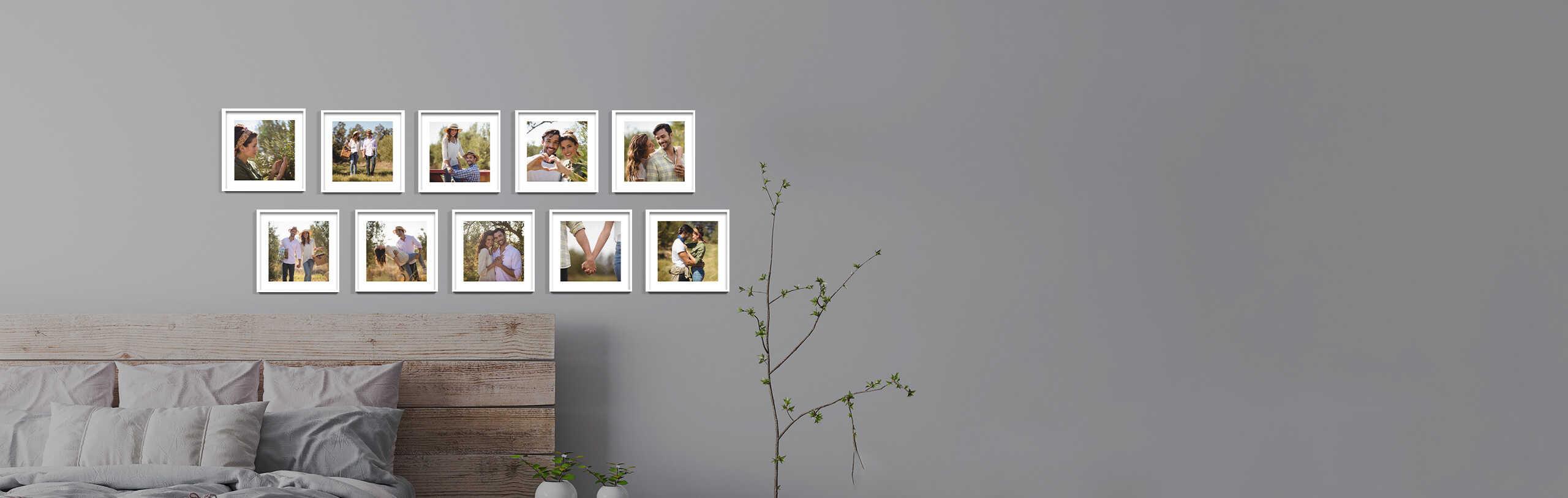 לופה בריבוע, קיר תמונות בחדר שינה